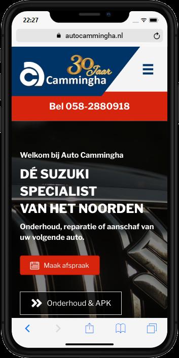 Auto Cammingha op mobiel