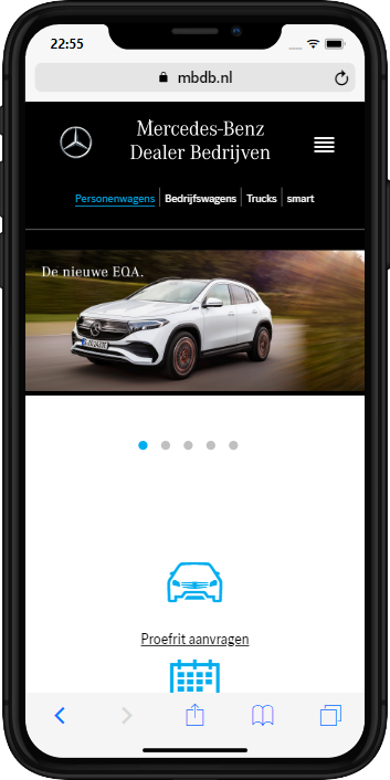 Mercedes=Benz Dealer Bedrijven op mobiel