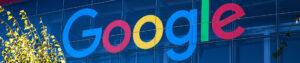 Google logo op pand